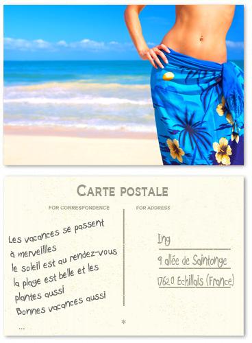 Cartes Postales A6 impression recto verso sur papier carte postale avec Vernis UV Recto