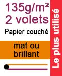 D pliant a4 ferm horizontal 1pli 135g m papier couch brillant ou mat - Papier couche brillant 135g ...