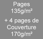 Brochure A5 8 pages135g/m² + 4 de couverture en 170g/m²