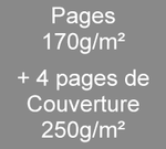 Brochure A5 8 pages170g/m² + 4 de couverture en 250g/m²