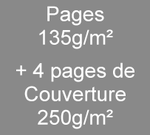 Brochure A5 8 pages135g/m² + 4 de couverture en 250g/m²