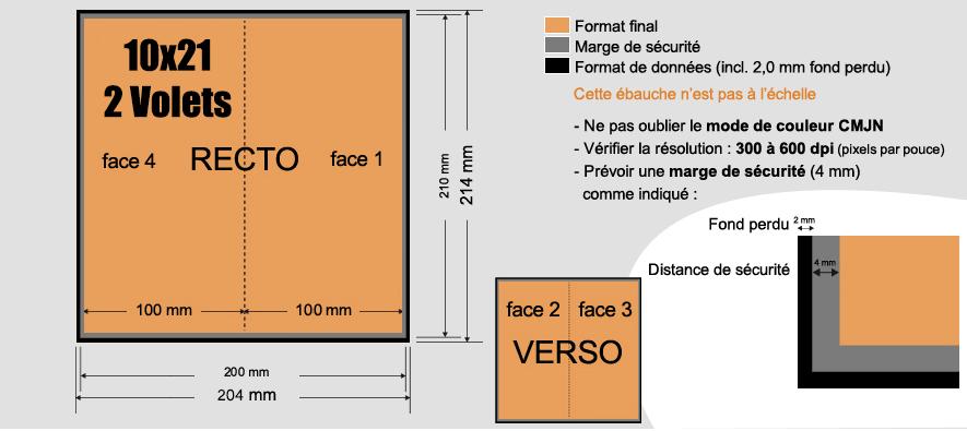 d pliants 10 5x21 ferm 2 volets 170g m. Black Bedroom Furniture Sets. Home Design Ideas