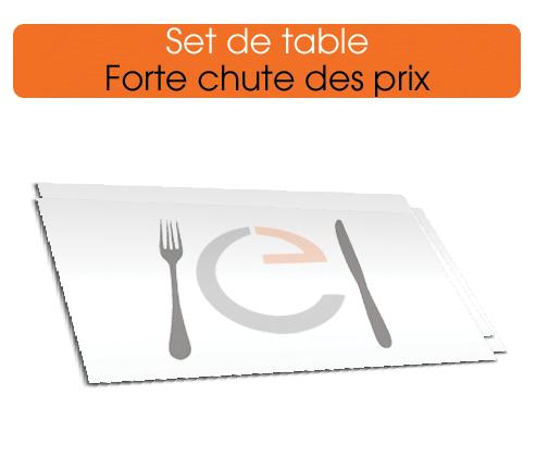 imprimer des sets de table sur papier offset, ou sur tissus, imprimerie européenne vous propose un choix important de sets de table