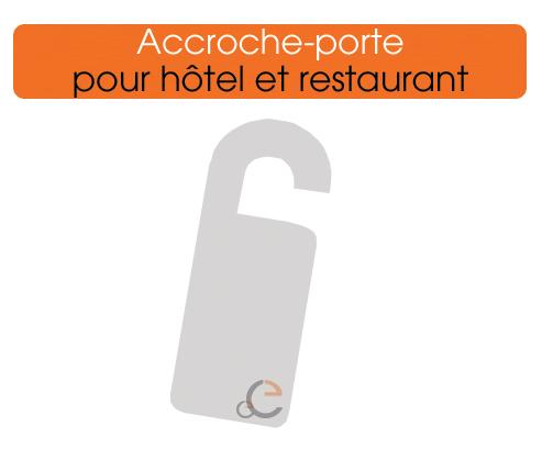 pour vos hôtels ou restaurants, imprimez vos accroches portes personnalisés