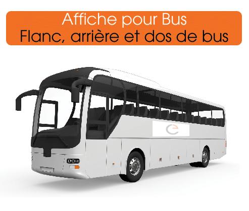 affiches spéciales bus pour communiquer efficacement grâce au covering de qualité
