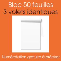 bloc autocopiant A5 3 VOLETS