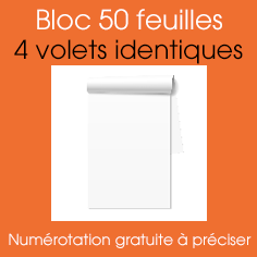 bloc autocopiant A5 4 VOLETS