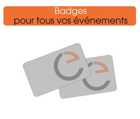 imprimer des badges personnalisés et pas chers
