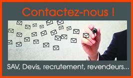 contactez nous par mail, nos formulaires en ligne