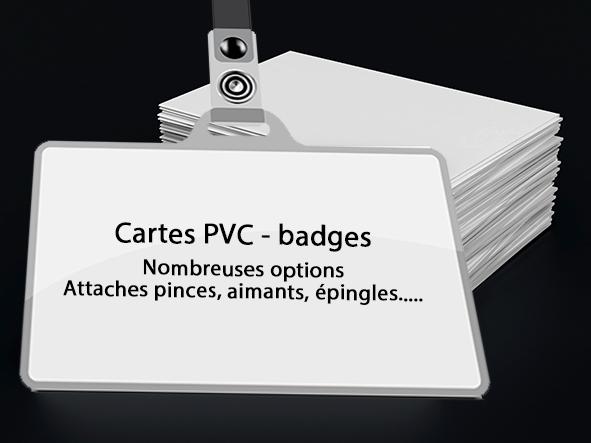 imprimer des cartes PVC, badges, avec ou sans overlay,