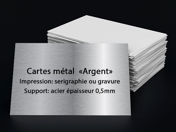 carte métal, argent