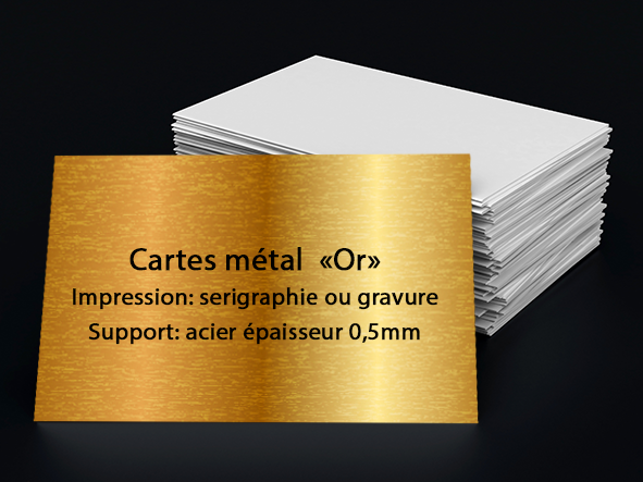 carte metal Or