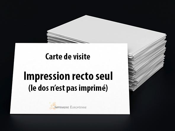 imprimer des carte de visite sur 1 face avec l'imprimerie européenne