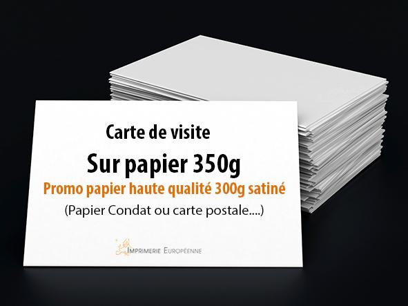 carte de visite papier 350g ou promo 300g impression recto seul sans finition