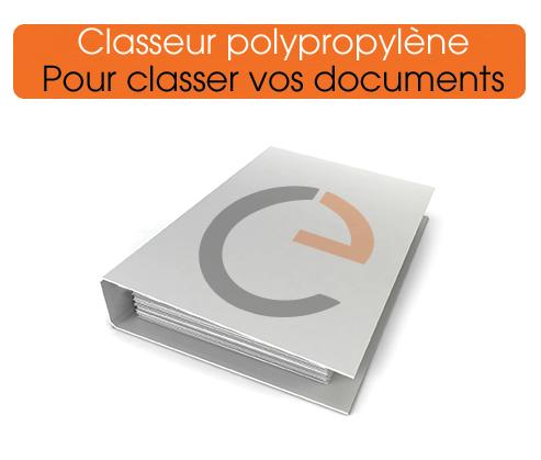 classeur polypropylène imprimé à vos couleurs