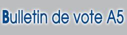 imprimer des bulletin de vote A5 pour Elections municipales et communautaires 2014 sur www.impression-ing.fr