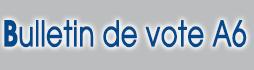 imprimer des bulletin de vote A6 pour Elections municipales et communautaires 2014 sur www.impression-ing.fr