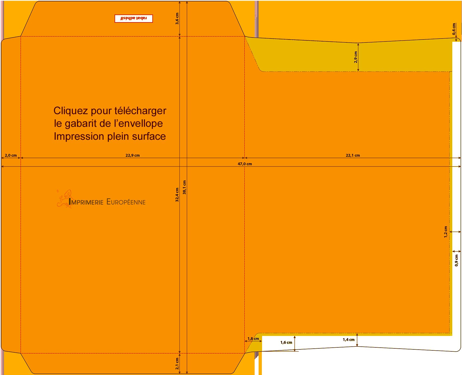 Enveloppe c4 90g impression quadri pleine surface r f3 for Enveloppe c4 avec fenetre
