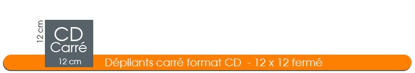 imprimer des dépliants carrés de 12x12 idéal pour CD
