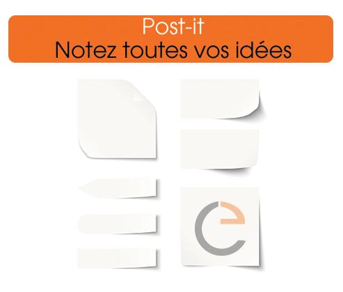 des post it a votre image pour communiquer