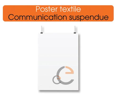 poster textile pour vos salons, exposition ou votre boutique