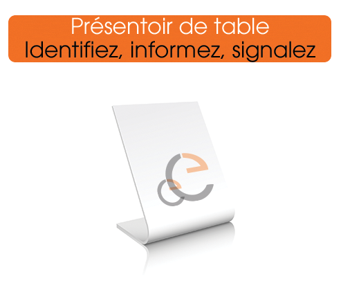 présentoir de table personnalisé pour restaurant