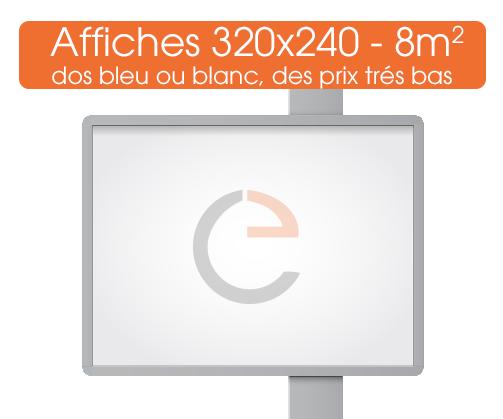 commander des affiches en 320x240 soit 8 metres carre  pour vos campagnes d'affichage
