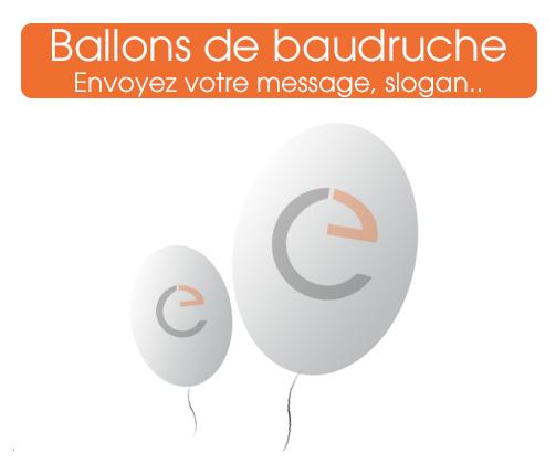 commander des ballons de baudruches, ballons imprimés