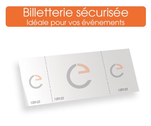 commander votre billetterie securise sur notre imprimerie en ligne, 2 ou 3 coupons numérotés