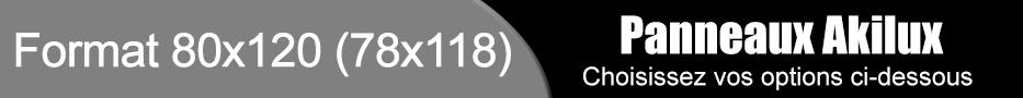 Panneaux akilux format 80x120 (78x118)