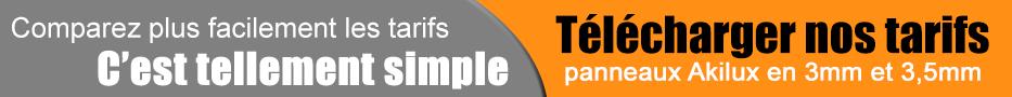 tarif panneaux akilux pour agence immobilière